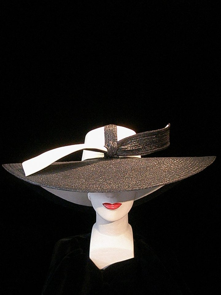 Thomas von Nordheim - Ascot hat in blueblack pedal straw and cream silk