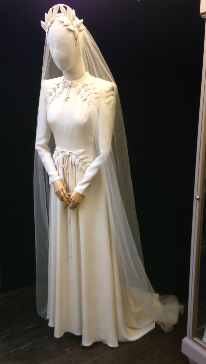 Thomas von Nordheim – Wedding dress in cream triple silk crepe