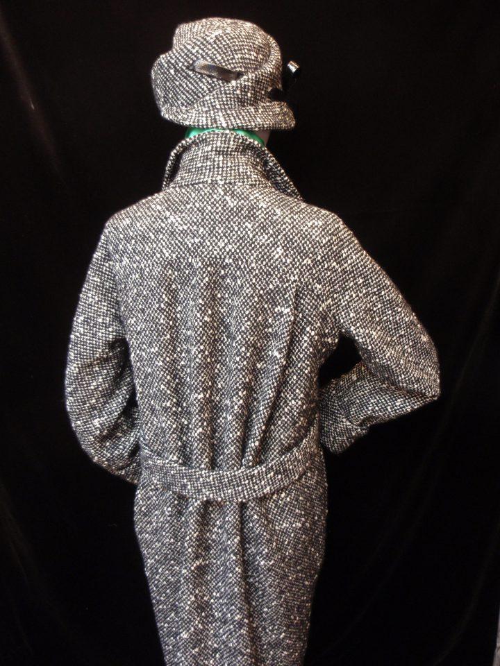Coat in chunky salt & pepper tweed