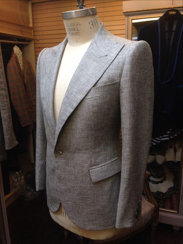 Thomas von Nordheim – suit in navy/white silk/linen fil-a-fil