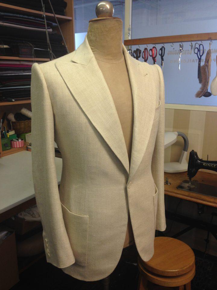 Thomas von Nordheim – suit in cream linen/silk/wool herringbone
