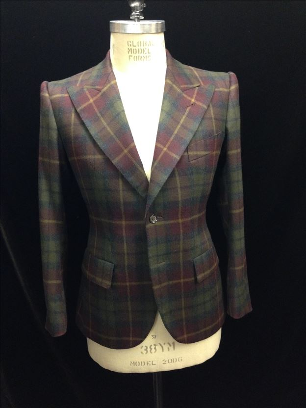 Thomas von Nordheim – suit in aubergine/green plaid Italian flannel